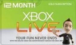 12 mois xbox xboxlive live card
