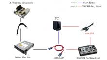 schema montage branchement lecteur xbox 360 pc alimentation ck3