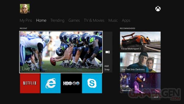 Xbox One Interface screenshots captures  1